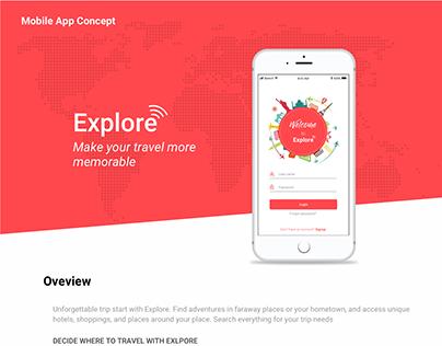 Explore Mobile App Concept
