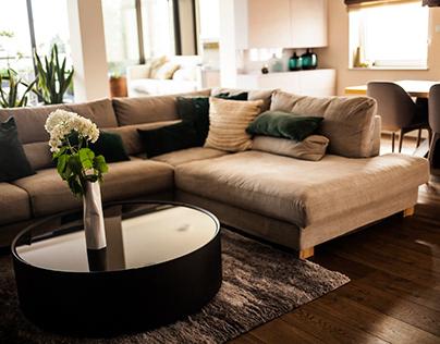 Realizacja projektu wnętrz w apartamencie o pow. 113 m²