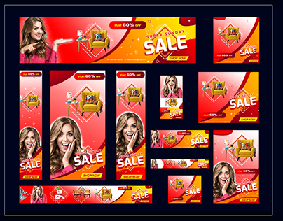 Web ads, Web Banner and Social Media post/Cover design