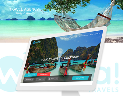 """Woopa Travels"" travel agency design concept"