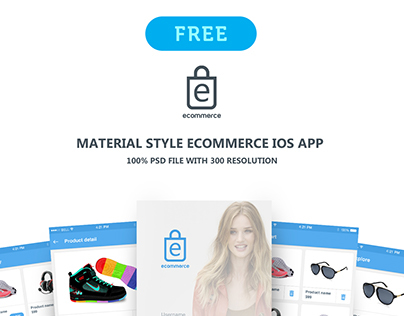 """eCommerce ios app """"Material style"""""""
