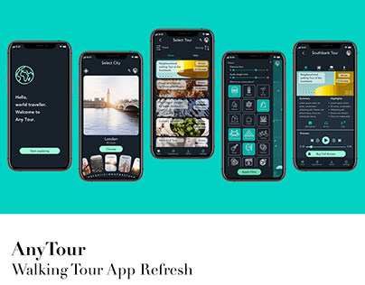 AnyTour - Walking tour app Facelift