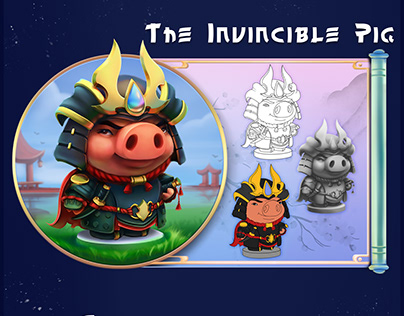 """Concept of """"The Legend of the Invincible Pig"""""""