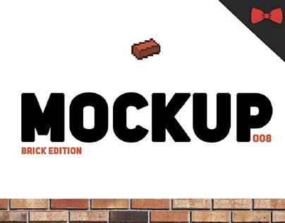 Free Mockup #008 - Brick Edition