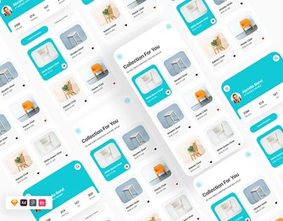 Free Furniture Ecommerce App UI