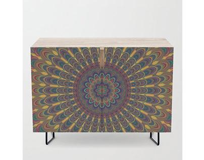 Bohemian Oval Mandala Credenza