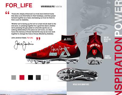 "NFL John Jenkins ""Cleats for Life"" Shoe Design"