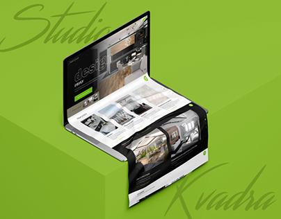 Дизайн-концепт сайта для студии дизайна интерьеров
