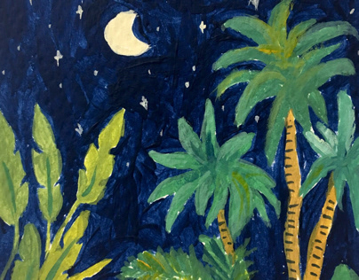 Night tropical view