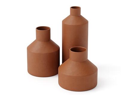 Ceramic set #07   C4d+Corona   3d Model