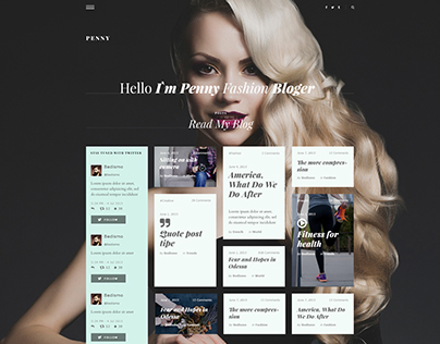 Penny - Blog / Magazine PSD Template