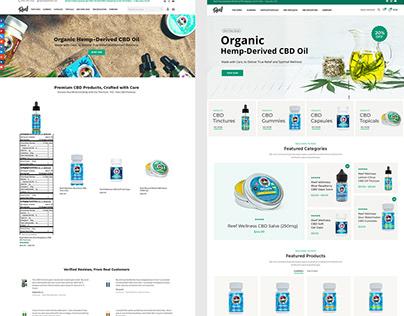CBD eCommerce Web Design Before / After