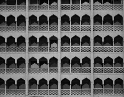 Monochromatic pattern photography.