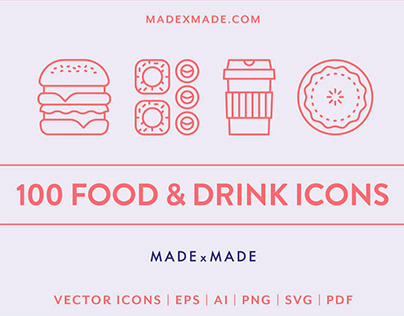 Food & Drink Icons by Made X Made