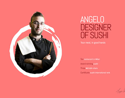 Layout website | Angelo Designer of Sushi