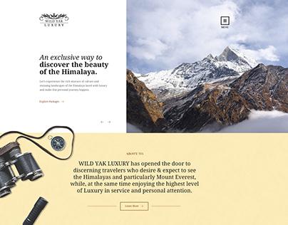 Luxury Trekking Website Design