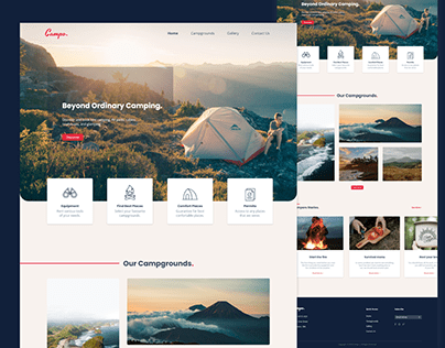 Camping landing page exploration