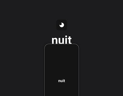 nuit | UX/UI design project