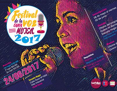 Festival de la voz, canta mujer 2017