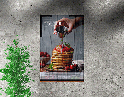 Cement Wall Poster Mockup Free