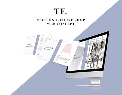 TF Clothing | Online Shop Web Concept