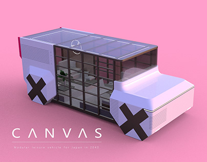 CANVAS - Modular Leisure Vehicle for Japan in 2040