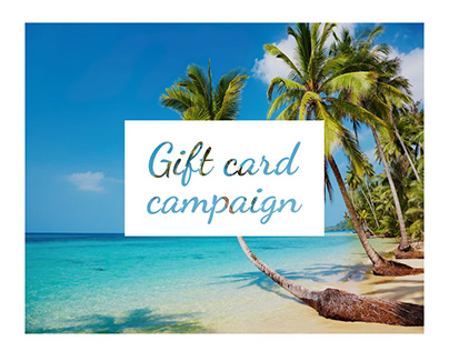 UX Ui design gift card program campaign