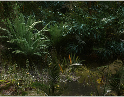 Jungle Full CGI / Megascan - Octane