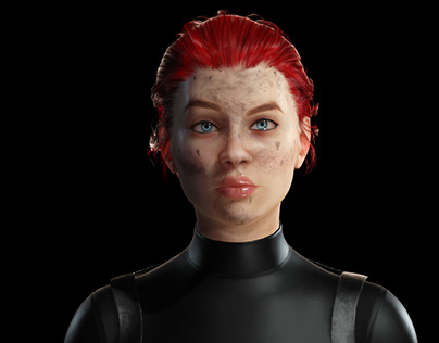3D Female Character   Realtime Render
