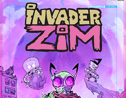 INVADER ZIM #26 cover edited by Oni Press