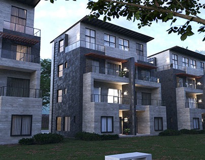 Apartment Blocks   Architectural Visualization