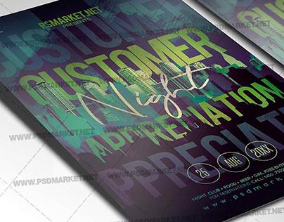 Customer Appreciation Night Flyer - PSD Template