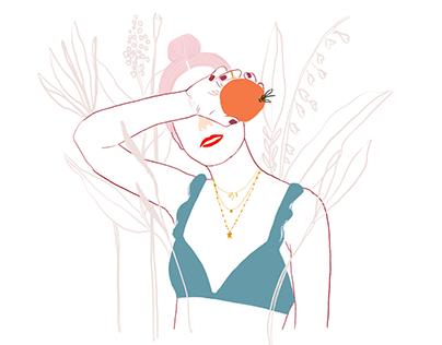 Ilustraciones para marca - Agua y Floré