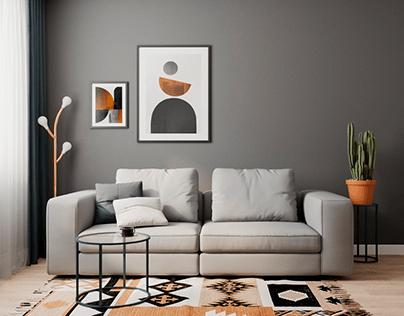 Colourful living room design