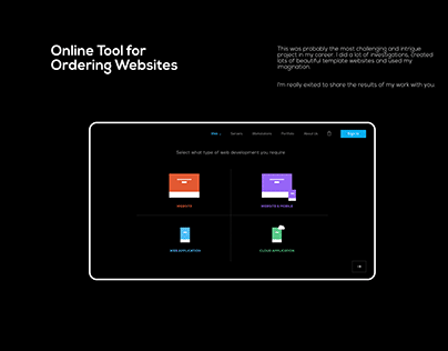 Website Ordering Tool UI UX