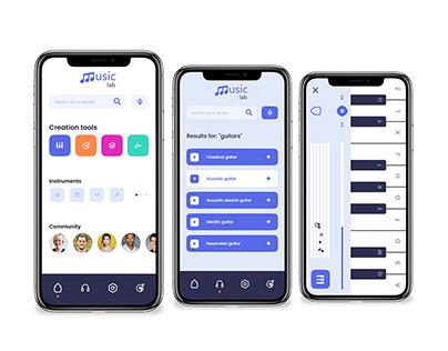 Music app - XD Daily creative challenge UX/UI Design