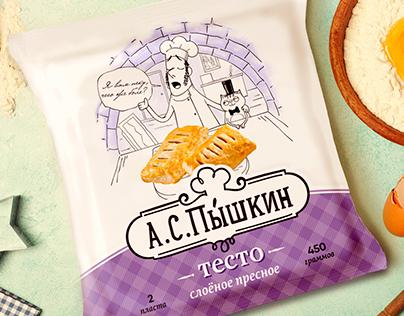 А.С. Пышкин. Дизайн упаковки теста. Dough packaging.