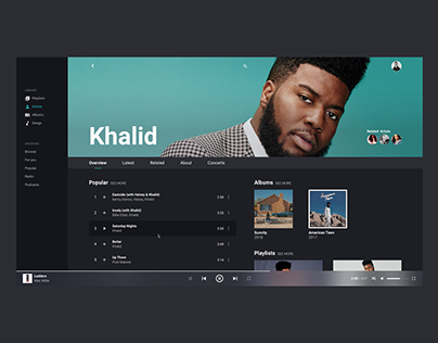 Music Player Interface Design