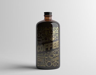Coffee Bottle Packaging Mock-Up