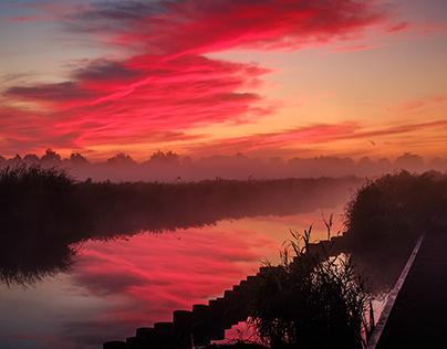 Ilperveld at sunrise