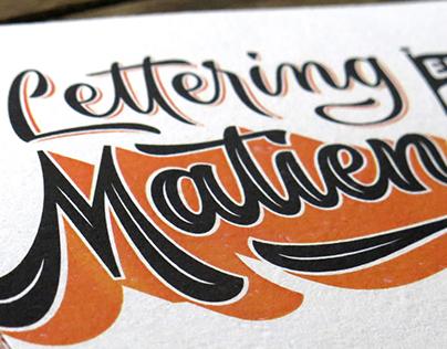 Tarjetas Lettering en Matienzo