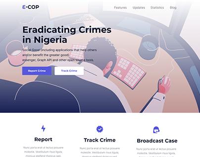 E-COP Landing Page