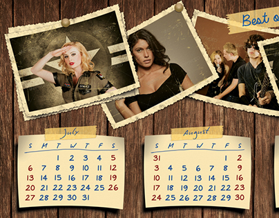 Retro Photos Calendar