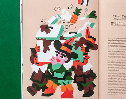 Klasse magazine Illustrations