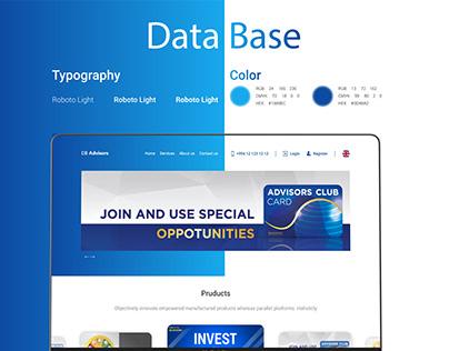 Database.az website concept design