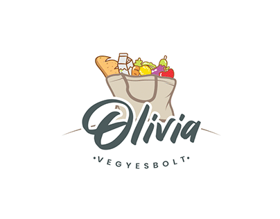 Olívia vegyesbolt - Identity & store design