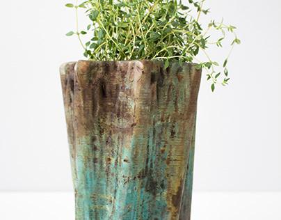 Voronoi Web Vase