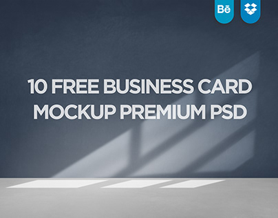 10 Free Business card mockup Premium Psd Vol.1