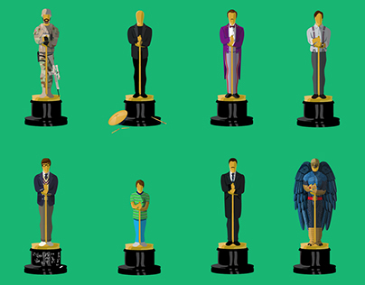 Oscars Best Picture Illustrations 2015