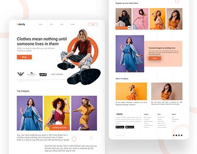 Fashion Brand Shop Web Interface